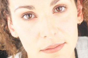 Woman's face up close